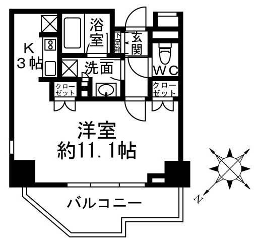 <渋谷区 賃貸マンション>上原2丁目 1K ノーブル代々木上原