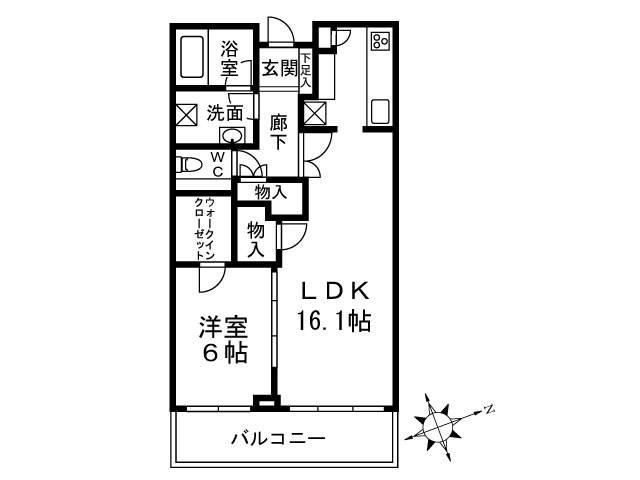<港区 賃貸マンション>白金1丁目 1LDK 白金タワー