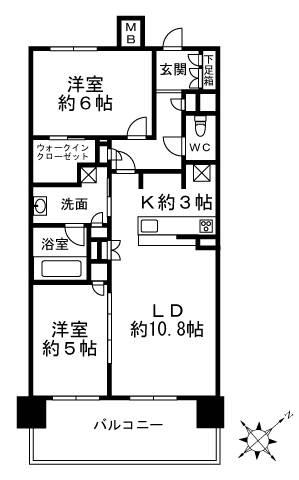 <文京区 賃貸マンション>小石川3丁目 2LDK 小石川アインス