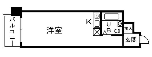 <港区 賃貸マンション>赤坂2丁目 1R ハイツサト赤坂