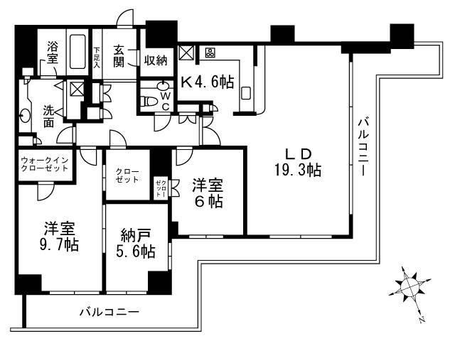 <江東区 賃貸マンション>東雲1丁目 2SLDK WコンフォートタワーズWEST