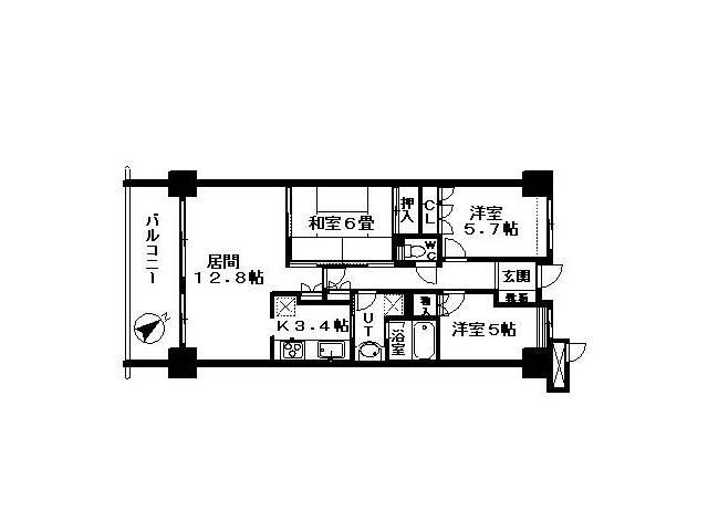 <船橋市 賃貸マンション>前原西1丁目 3LDK プローラ津田沼