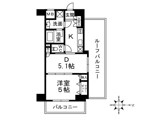 <中野区 賃貸マンション>中央5丁目 1DK 日神デュオステージ新中野