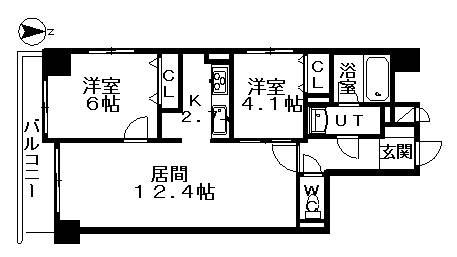 <墨田区 賃貸マンション>緑3丁目 2LDK 両国アムフラット