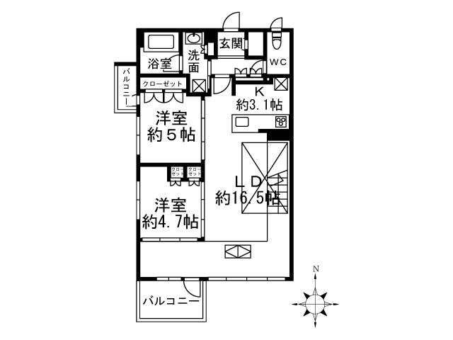 <渋谷区 賃貸マンション>初台2丁目 2LDK ザ・ロアハウス代々木初台
