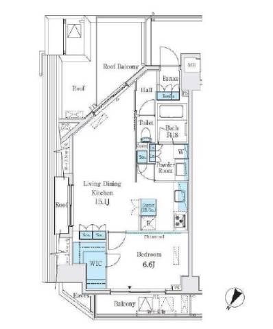 <渋谷区 賃貸マンション>代々木2丁目 1LDK ベルファース代々木