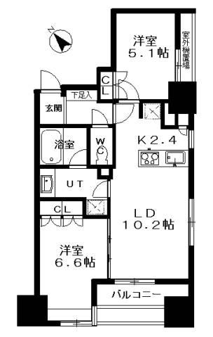 <港区 賃貸マンション>赤坂7丁目 2LDK ピアース乃木坂