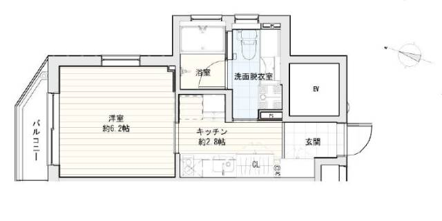 <港区 賃貸マンション>西麻布3丁目 1K VILLETTANishi‐Azabu