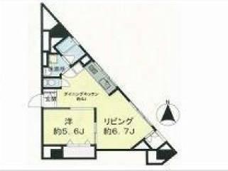 <新宿区 賃貸マンション>高田馬場4丁目 1LDK 佐々木ビル