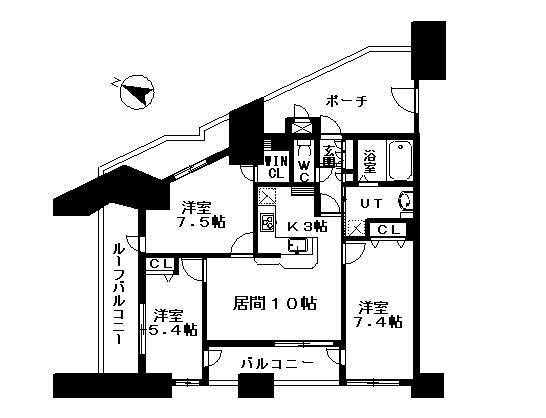 <品川区 賃貸マンション>東大井5丁目 3LDK センチュリープラチナマンション大井町