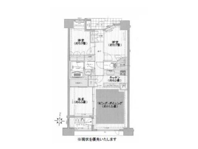 <江東区 賃貸マンション>亀戸1丁目 3LDK シティハウス錦糸町