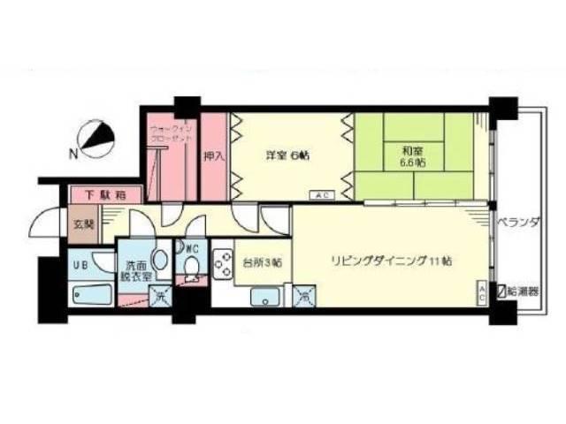 <豊島区 賃貸マンション>高田2丁目 2LDK 目白フラワーハイホーム