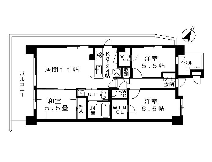 サンクレイドル青砥ファルカロビオ2階